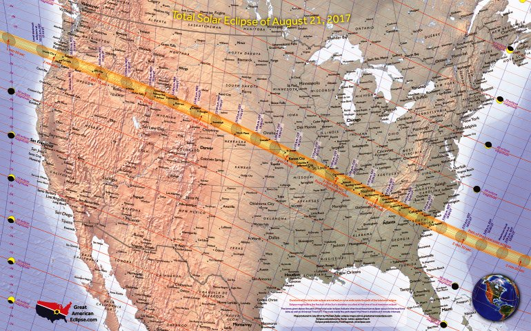 Total solar eclipse on August 21st, 2017