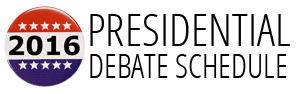 Presidential Debate Schedule — 2016