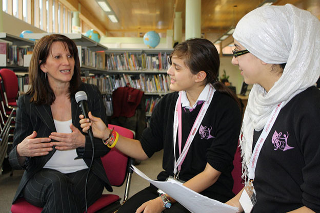 Lynne Featherstone Interrviewed about youth issues by Hornsey School Girl students