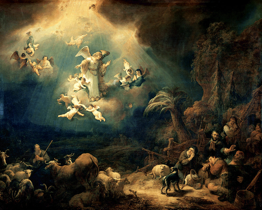 Angels appear to the shepheards