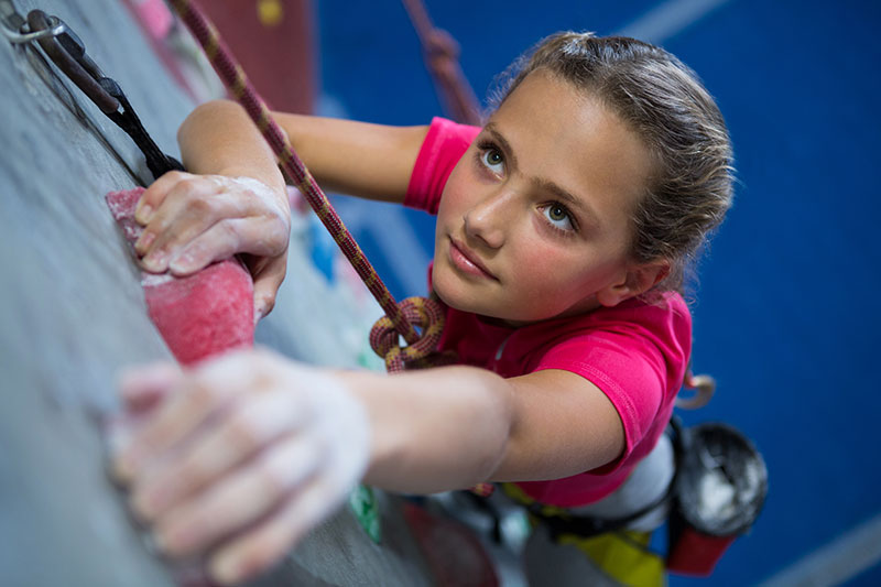 determination, persistence, girl, rock climbing, perseverance