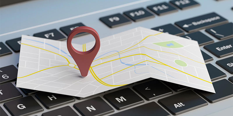 map, laptop, location, location search, find a location